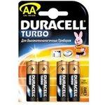 Фото 2/2 Батарея DURACELL Turbo MAX LR6-4BL, 4 шт AA