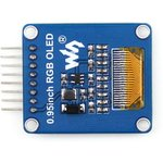 Фото 2/5 0.95inch RGB OLED (A), RGB OLED дисплей с разрешением 96х64px, интерфейс SPI, изогнутый контакный разъем