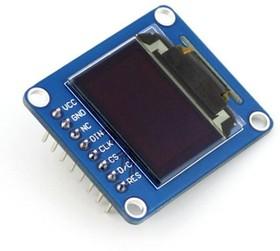 Фото 1/5 0.95inch RGB OLED (B), RGB OLED дисплей с разрешением 96х64px, интерфейс SPI, прямой контакный разъем