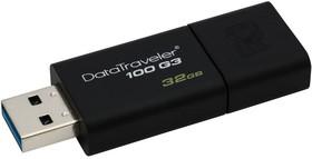 Флешка USB KINGSTON DataTraveler 100 G3 32Гб, USB3.0, черный [dt100g3/32gb]