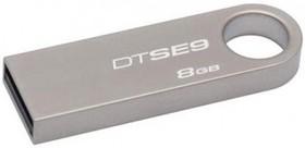 Флешка USB KINGSTON DataTraveler SE9 8Гб, USB2.0, серебристый [dtse9h/8gb]