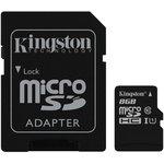 Карта памяти microSDHC UHS-I KINGSTON 8 ГБ, 45 МБ/с ...