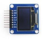 Фото 4/5 0.96inch OLED (A), OLED дисплей с разрешением 128х64px, интерфейсы SPI/I2C, изогнутый контакный разъем