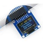 Фото 3/5 0.96inch OLED (A), OLED дисплей с разрешением 128х64px, интерфейсы SPI/I2C, изогнутый контакный разъем