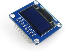 Фото 1/5 0.96inch OLED (B), OLED дисплей с разрешением 128х64px, интерфейсы SPI/I2C, прямой контакный разъем