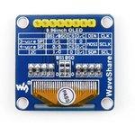 Фото 4/5 0.96inch OLED (B), OLED дисплей с разрешением 128х64px, интерфейсы SPI/I2C, прямой контакный разъем