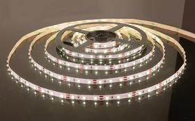 60Led-4.8W-IP20-12V теплый белый, Лента светодиодная, 60SMD(3528)/m, 4.8Вт/м,12В, цена за катушку 5м