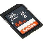 Карта памяти SDXC UHS-I SANDISK Ultra 48 64 ГБ, 48 МБ/с ...