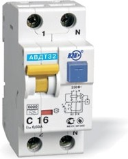 Выключатель автоматический дифференциального тока ИЭК 2п 16А/30мА C АВДТ 32 MAD22-5-016-C-30