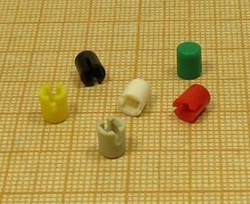 Колпачки для кнопок, зелёные, 2648 G колп 2,5x2,5\d4,6x5,5\пл\зел\\