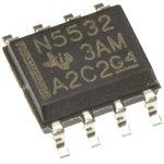 Фото 2/2 NE5532D, 2-х канальный, малошумящий операционный усилитель, 10МГц, ±15В, 9В/мкс, [SO-8]