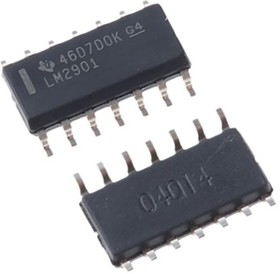 LM2901D, LM2901 QUAD 1.3US COMPARATOR, SOIC14