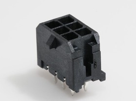 0430450613, Conn Power HDR 6 POS 3mm Solder ST Thru-Hole 6 Terminal 1 Port Micro-Fit 3.0™ Tray