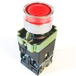 NP2-BW3465 230V LED, Кнопка без фиксации красная с подсветкой OFF-(ON)