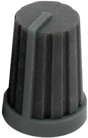MC21062, Ручка, Вал с Пазом, 6 мм, Резина, Круглая Гофрированная с Индикаторной Линией, 13 мм