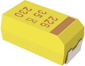 Фото 1/3 T491D226K010AT, Cap Tant Solid 22uF 10V D CASE 10% (7.3 X 4.3 X 2.8mm) Inward L SMD 7343-31 0.8 Ohm 125°C T/R