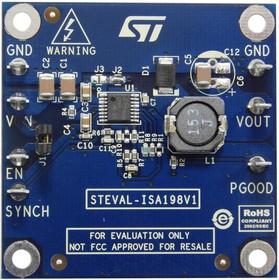 Фото 1/2 STEVAL-ISA198V1, Импульсный стабилизатор, частота коммутации 500кГц, понижающий DC - DC, 2А, 4.5В - 60В вход, 5В