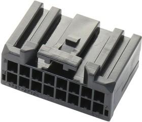 16CPT-B-2A, Разъем типа провод-плата, 2 мм, 16 контакт(-ов), Гнездо, CPT Series, 2 ряд(-ов)