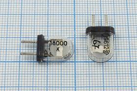 кварцевый резонатор 18МГц в стеклянном корпусе КА, 18000 \КА\\\\\1Г