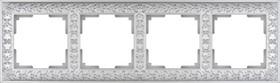 WL07-Frame-04/Рамка на 4 поста (жемчужный)