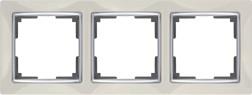 WL03-Frame-03-ivory /Рамка на 3 поста (слоновая кость)