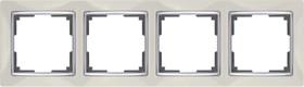 WL03-Frame-04-ivory /Рамка на 4 поста (слоновая кость)