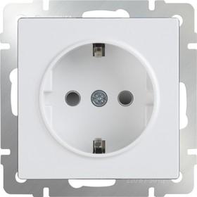 WL01-SKGS-01-IP44 / Розетка с заземлением и шторками (белая)