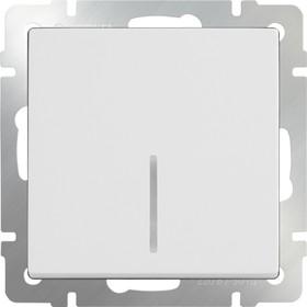 WL01-SW-1G-LED / Выключатель одноклавишный с подсветкой(белый)