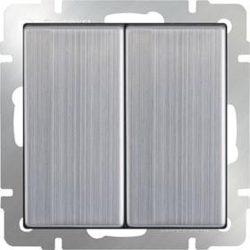 WL02-SW-2G /Выключатель двухклавишный (глянцевый никель)