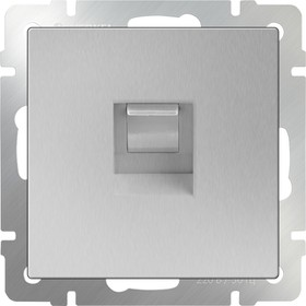 WL06-RJ-11/ Телефонная розетка RJ-11 (серебряный)