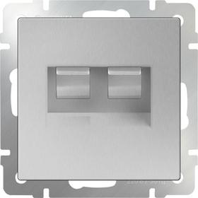 WL06-RJ45+RJ45 / Розетка двойная Ethernet RJ-45 (серебряный)