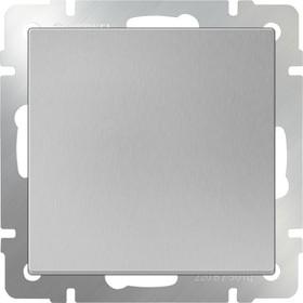 WL06-SW-1G-2W/Выключатель одноклавишный проходной (серебряный)