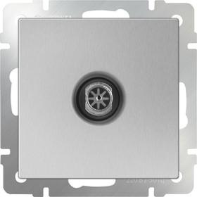 WL06-TV-2W/ ТВ-розетка проходная (серебряный)