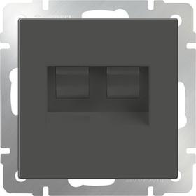 WL07-RJ45+RJ45 / Розетка двойная Ethernet RJ-45 (серо-коричневый)