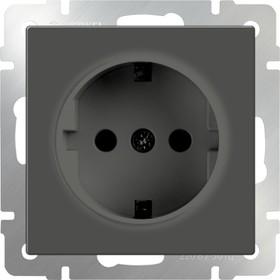 WL07-SKG-01-IP20/ Розетка с заземлением (серо-коричневый)