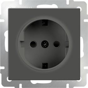 WL07-SKGS-01-IP44/ Розетка с заземлением и шторками (серо-коричневый)