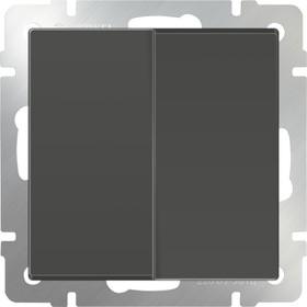 WL07-SW-2G-2W/Выключатель двухклавишный проходной (серо-коричневый)