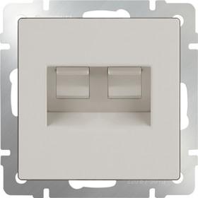 WL03-RJ45+RJ45-ivory/ Розетка двойная Ethernet RJ-45 (слоновая кость)