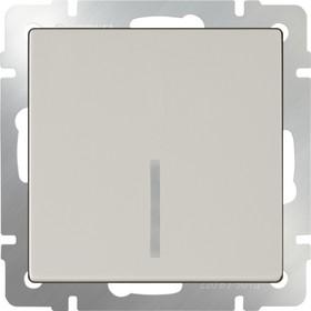 WL03-SW-1G-LED-ivory /Выключатель одноклавишный с подсветкой (слоновая кость)