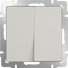 WL03-SW-2G-ivory /Выключатель двухклавишный (слоновая кость)
