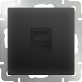WL08-RJ-11/ Телефонная розетка RJ-11 (черный матовый)