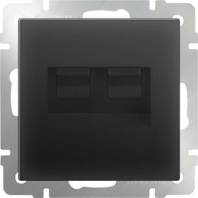 WL08-RJ45+RJ45 / Розетка двойная Ethernet RJ-45 (черный матовый)