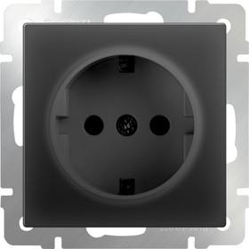 WL08-SKG-01-IP20/ Розетка с заземлением (черный матовый)