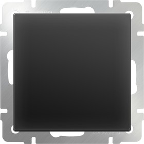 WL08-SW-1G-2W/Выключатель одноклавишный проходной (черный матовый)