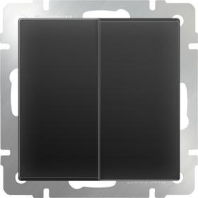 WL08-SW-2G/Выключатель двухклавишный (черный матовый)