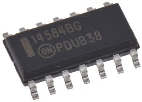 MC14584BDG, Инвертор, триггер Шмитта, 6 элементов, 1 вход, [SO-14]