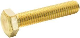 M630HHBRSCS100-, Установочный винт, DIN 933, M6, 30 мм, Латунь, Шестигранный