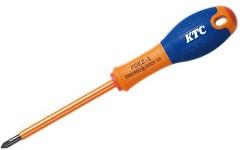 Отвертка KTC PDEZ-1 крестовая №1х100мм c изоляцией 1000в