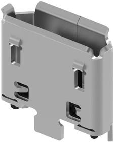 Фото 1/2 USB3160-30-0120-1-C, Составной USB разъем, Micro USB Типа B, USB 2.0, 5 вывод(-ов), Вертикальный, Медный Сплав