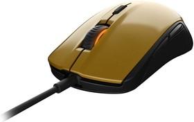 Мышь STEELSERIES Rival 100 Alchemy оптическая проводная USB, золотистый и черный [62336]